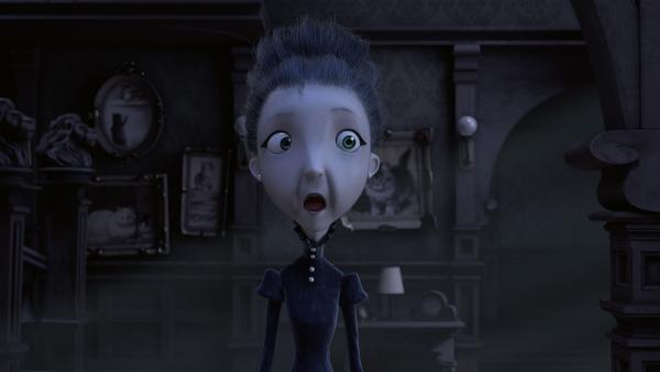 Frau Beese bekommt einen gehörigen Schreck, als Henry vor der Tür steht. | Rechte: KiKA/Dream Logic & Lupusfilm/Trickshot Films