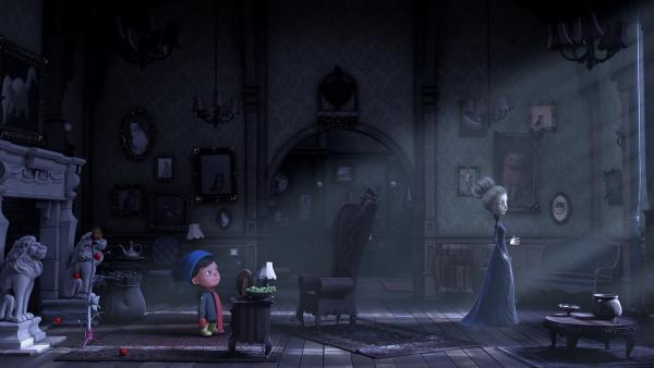 Frau Beese erzählt Henry von ihrer Kindheit und ihrem Wunschzettel. | Rechte: KiKA/Dream Logic & Lupusfilm/Trickshot Films