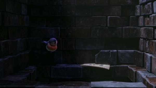 Im Kamin von Frau Beese findet Fink, wonach er gesucht hat: den vor Jahrzenten im Kamin stecken gebliebenen Wunschzettel von Frau Beese. | Rechte: KiKA/Dream Logic & Lupusfilm/Trickshot Films