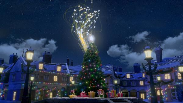 Zusammen mit tausenden anderen Wunschzetteln fliegen die von Henry und Frau Beese zum Weihnachtsmann. | Rechte: KiKA/Dream Logic & Lupusfilm/Trickshot Films