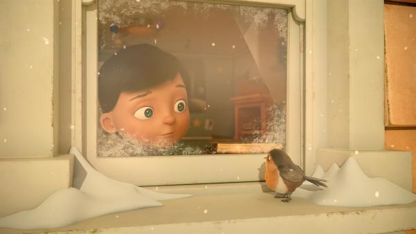 Fink weckt Henry an einem herrlichen Weihnachtsmorgen. | Rechte: KiKA/Dream Logic & Lupusfilm/Trickshot Films