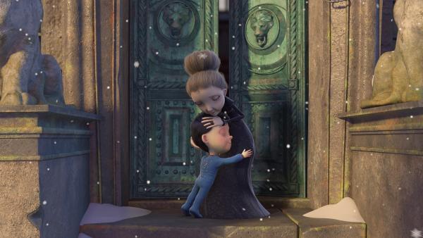 Henry und Frau Beese feiern das schönste Weihnachtsfest aller Zeiten, denn der Weihnachtsmann hat beiden ihre Herzenswünsche erfüllt. | Rechte: KiKA/Dream Logic & Lupusfilm/Trickshot Films