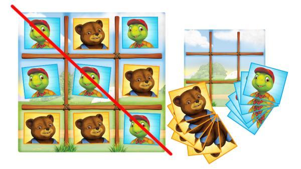 Spielfeld und Spielkarten | Rechte: KiKA/Nelvana Limited/Infinite Frameworks Pte Ltd.