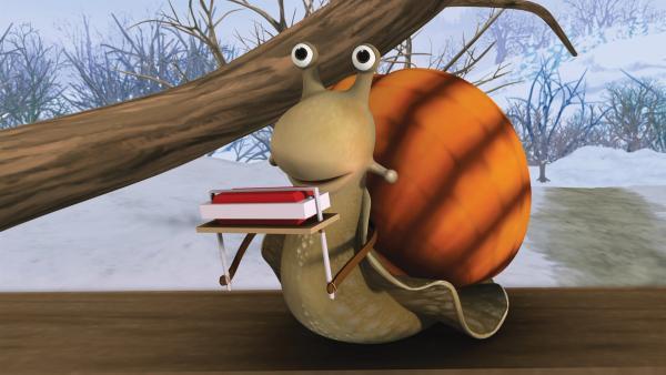 Schnecke versucht Franklin zu helfen, Gans das Fliegen beizubringen. | Rechte: KiKA/Nelvana Limited/Infinite Frameworks  Pte Ltd.