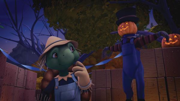 Es ist Halloween und Franklin und seine Freunde besuchen eine Gruselparty. | Rechte: KiKA/Nelvana Limited/Infinite Frameworks  Pte Ltd.