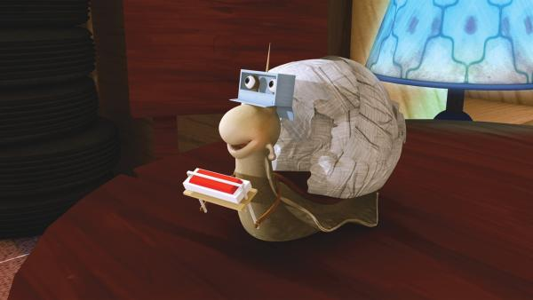 Franklin und seine Freunde spielen, dass sie mit einem Raumschiff ins Weltall fliegen. | Rechte: KiKA/Nelvana Limited/Infinite Frameworks  Pte Ltd.
