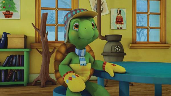 Franklin hört gespannt bei der Probe zu. | Rechte: KiKA/Nelvana Limited/Infinite Frameworks Pte Ltd.