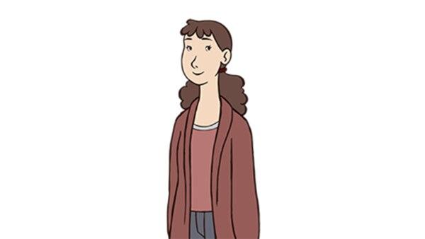 Julia vor weißem Hintergrund. | Rechte: KiKA/Balance Film & TrickStudio Lutterbeck