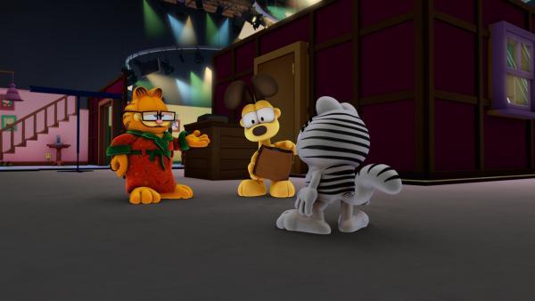 Garfield verschickt Nermal nach Abu Dhabi. Wenn das mal keine Probleme gibt...   Rechte: HR/DARGAUD MEDIA