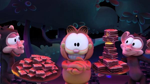 Ein kleiner Snack in der Savanne für Garfield | Rechte: HR/Dargaud Media/MediaToon/Paws Inc./France 3