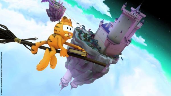 Garfield auf dem Weg zur Hexenschule | Rechte: HR/Dargaud Media/MediaToon/Paws Inc./France 3