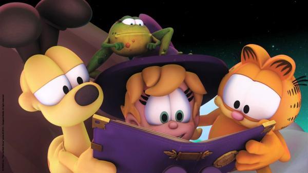 Die Freunde lesen im Zauberbuch. | Rechte: HR/Dargaud Media/MediaToon/Paws Inc./France 3