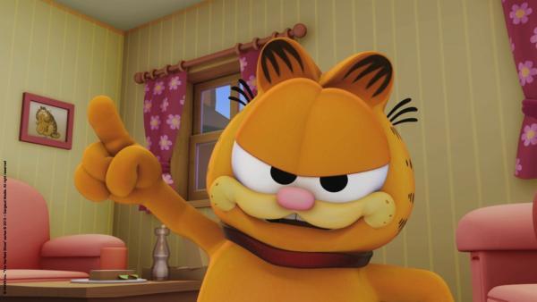 Garfield trägt das Hundehalsband.   Rechte: HR/Dargaud Media/MediaToon/Paws Inc./France 3