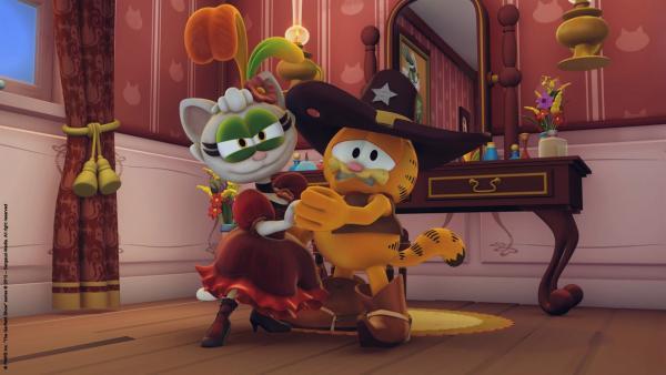 Garfield muss tanzen. | Rechte: HR/Dargaud Media/MediaToon/Paws Inc./France 3