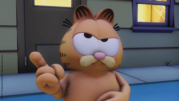 Garfield hat Zweifel. | Rechte: HR/Dargaud Media/MediaToon/Paws Inc./France 3