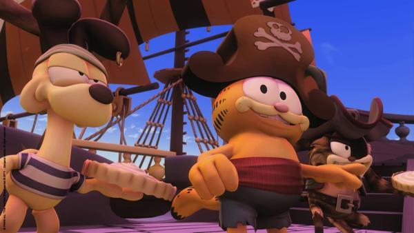 Pirat Garfield und seine Crew | Rechte: HR/Dargaud Media/MediaToon/Paws Inc./France 3