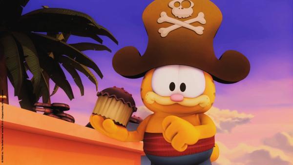 Garfield schwelgt im Überfluss. | Rechte: HR/Dargaud Media/MediaToon/Paws Inc./France 3