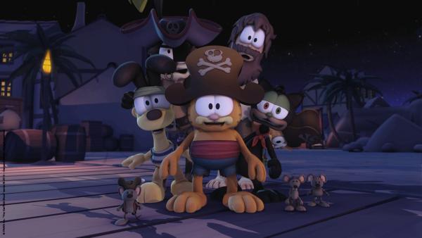 Pirat Garfield und seine Crew erleben eine Überraschung. | Rechte: HR/Dargaud Media/MediaToon/Paws Inc./France 3