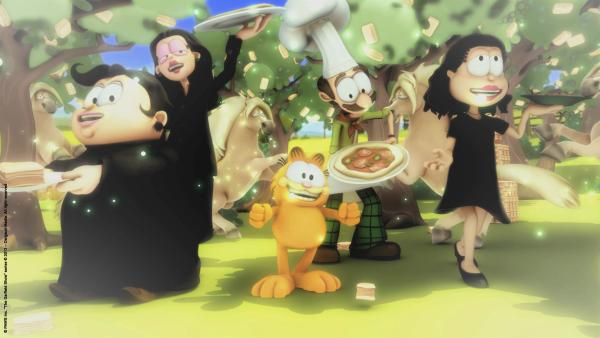 Garfield unter dem Lasagnebaum   Rechte: HR/Dargaud Media/MediaToon/Paws Inc./France 3