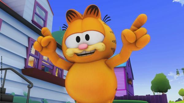 Garfield weiß, wo die Torte zu finden ist.   Rechte: HR/Dargaud Media/MediaToon/Paws Inc./France 3