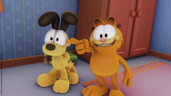 Tante Ivy kümmert sich heute um Garfield und Odie.   Rechte: HR/Dargaud Media/MediaToon/Paws Inc./France 3