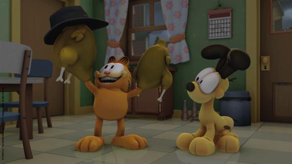 Jon fährt zwei Tage auf eine Comic-Messe und Garfield schmeißt solange den Haushalt. | Rechte: HR/Dargaud Media/MediaToon/Paws Inc./France 3