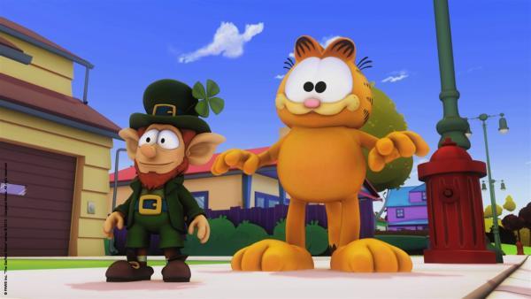 Garfield und Paddy, der kleine Zauberkobold | Rechte: HR/Dargaud Media/MediaToon/Paws Inc./France 3