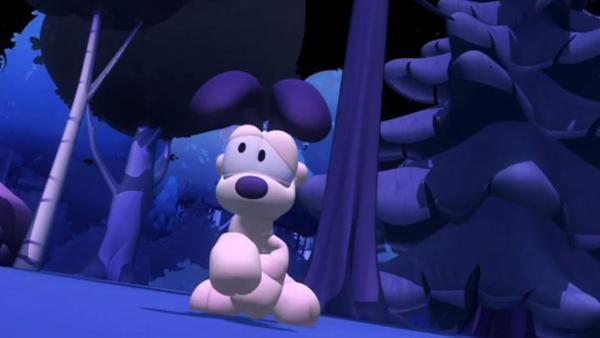 Odie verirrt sich im Wald und findet nicht mehr nach Hause. | Rechte: HR/DARGAUD MEDIA