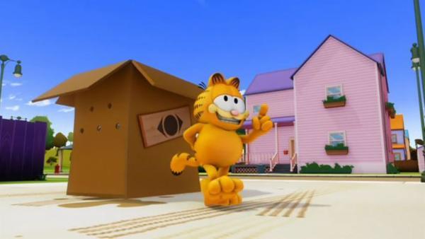 Garfield will Nermal nach China verschicken. Doch durch ein Versehen gelangen auch Odie und Garfield nach Shanghai. | Rechte: HR/DARGAUD MEDIA