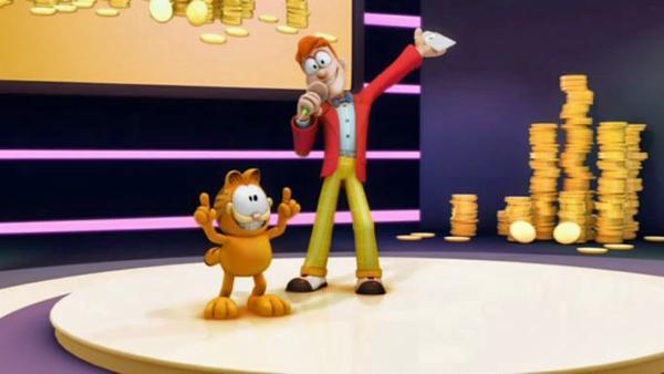 Ein Wettbewerb, wer das beste proportionierte Kätzchen ist, steht an. Garfield will mit allen Mitteln gegen Nermal gewinnen. | Rechte: HR/DARGAUD MEDIA