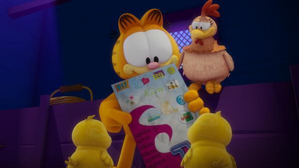 Garfield startet bei Kühen, Hühnern und Pferden einen Werbefeldzug fürs Fernsehen. | Rechte: HR/DARGAUD MEDIA