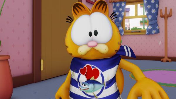 Garfield hat unbändigen Appetit auf Fisch. | Rechte: HR/DARGAUD MEDIA