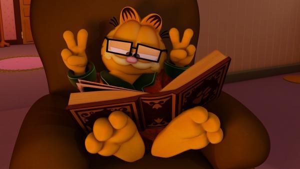 Garfield will einen Film über die Geschichte der Hunde drehen.   Rechte: HR/DARGAUD MEDIA