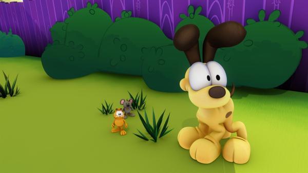 Durch ein Missgeschick wurde Garfield geschrumpft. | Rechte: HR/DARGAUD MEDIA