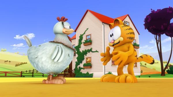 Garfield und Penny Henny | Rechte: HR/DARGAUD MEDIA