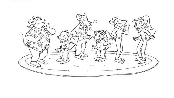 Geronimo und seine Freunde stehen auf einem Teppich | Rechte: kika