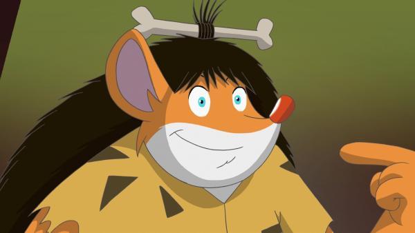 Effeff schlüpft in die Rolle der Urzeit-Maus. | Rechte: hr/Atlantyca Entertainment/Moonscoop