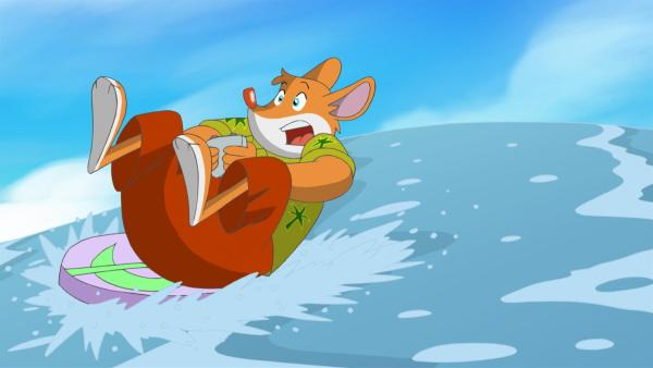 Effeff macht unfreiwillig bei einem Surfwettbewerb mit.   Rechte: hr/Atlantyca Entertainment/Moonscoop