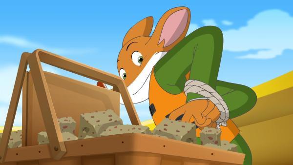 Geronimo befreit sich aus den Fesseln, um Grax verfolgen zu können. | Rechte: hr/Atlantyca Entertainment/Moonscoop