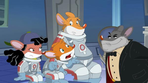 Krawallo Krum nimmt Effeff Pandora und Benjamin gefangen. | Rechte: hr/Atlantyca Entertainment/Moonscoop
