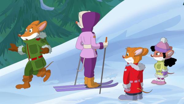 Sabotage bei den Winterspielen gefährdet die Sportler. | Rechte: hr/Atlantyca Entertainment/Moonscoop