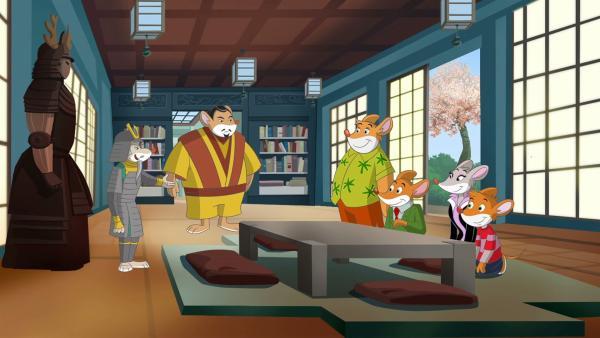 Die Stiltons sollen dem Samurai helfen ein Schriftstück zu finden. | Rechte: hr/Atlantyca Entertainment/Moonscoop
