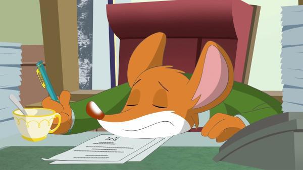 Geronimo ist total überarbeitet und braucht dringend Urlaub. | Rechte: hr/Atlantyca Entertainment/Moonscoop