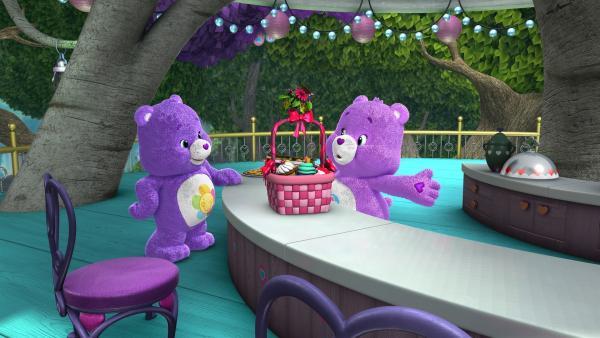 Harmonie und Teile-gern bereiten ihr wöchentliches Picknick vor.   Rechte: KiKA/Those Characters From Cleveland