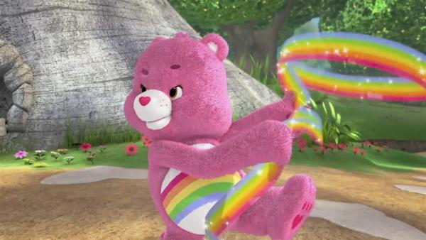 Hurrabärchi wirft das Regenbogen-Lasso.   Rechte: KiKA/TCFC