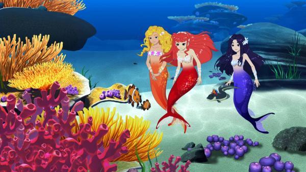 Die drei Meerjungfrauen Cleo, Rikki und Emma | Rechte: ZDF/Les Cartooneurs Associés
