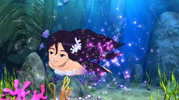 Cleo darf in einem Kinofilm eine Meerjungfrau spielen. Keiner weiß, dass sie unter Wasser tatsächlich immer zur Meerjungfrau wird. | Rechte: ZDF/Les Cartooneurs Associés
