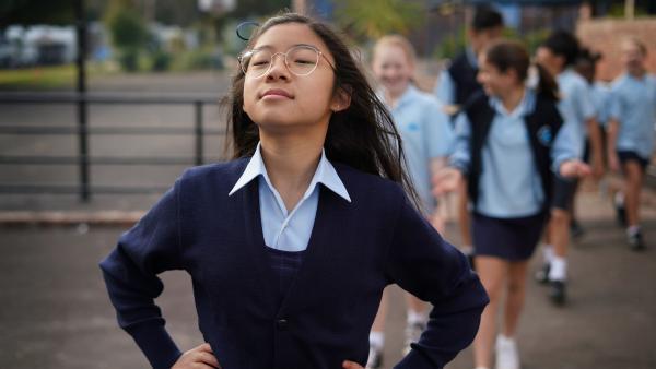 Tiffany (Erin Choy) ist der Schulbully und die allerbeste Handballspielerin. Sie räumt alle Gegner gnadenlos aus dem Weg. | Rechte: hr/Northern Pictures 2018