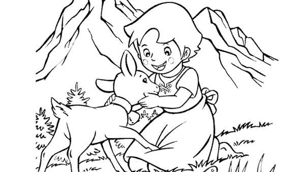 Heidi und ihre Ziege Schnucki in den Bergen | Rechte: kika
