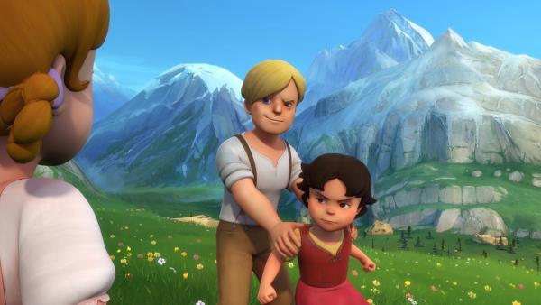 Karl nimmt Heidi gefangen, um Peter zu ärgern. | Rechte: ZDF/Studio 100 Animation/Heidi Productions Pty. Limited